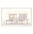police station - modern line design style vector image vector image