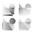 raster effect dotted figures vector image