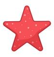 red starfish icon cartoon character sea animal vector image vector image