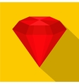 Ruby icon flat style vector image vector image