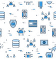 seamless pattern - internet technology icons vector image