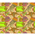 seamless sea pattern with tropical fishes vector image vector image