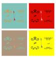 set of ornate frame elements vintage and filigree vector image vector image