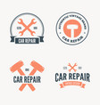 set of vintage mechanic labels emblems and logo vector image