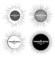 Set of vintage style star burst retro elements vector image vector image
