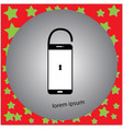 smartphone unlocked with keyhole vector image