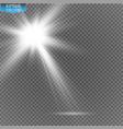 spotlights scene light effects transparent vector image vector image