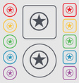 Star Favorite icon sign symbol on the Round and vector image
