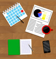 strategic planning top view vector image vector image