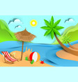 summer beach holiday vacation tropical landscape vector image vector image