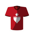 t shirt with star icon image vector image