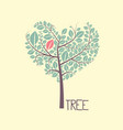 tree with leaves flat design icon vector image vector image