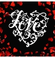 Valentines day lettering greeting card vector image vector image