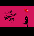 valentines day love and relationships silhouette vector image