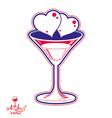 Valentines day martini glass vector image