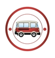 Van shipping vehicle vector image