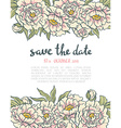 vintage floral wedding invitation Pink roses and vector image vector image