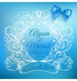 Vintage frame with bow vector image vector image