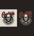 vintage motorcycle repair service logo vector image vector image