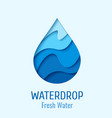 water drop logo design template vector image vector image