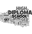 which is best ged or diploma text word cloud vector image vector image