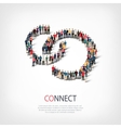 connect people sign 3d vector image