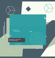 modern abstract memphis style background design vector image