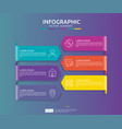 6 steps infographic timeline design template with vector image vector image