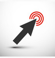 arrow icon click symbol vector image
