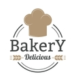 Bakery badge and bread logo badge icon modern vector image