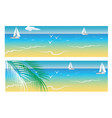 banners with sea and palm trees vector image vector image