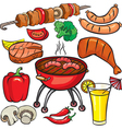 Barbecue icon set vector image vector image