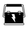 battery with lightning bolt icon imag vector image vector image