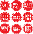 Best price signs set best price sticker set vector image