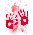 bloods grunge texture with hands vector image vector image