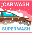 car wash auto service for vehicles maintenance vector image