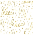 Christmas seamless background with champagne vector image vector image