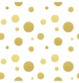 Classic dotted seamless gold glitter pattern vector image vector image
