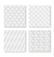collection of white seamless geometric textures vector image