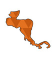 dotted line map of central america vector image vector image