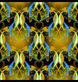 elegance floral vintage seamless pattern vector image