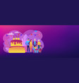 family tradition concept banner header vector image vector image