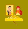 flat icon on stylish background history lesson vector image vector image