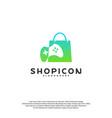 game shop logo template design vector image vector image
