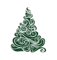 Graphical Christmas tree vector image vector image