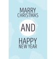 Happy new year and marry christmas card vector image vector image