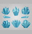 ice crystals isolated on transparent background vector image vector image