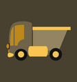 icon in flat design truck toy vector image vector image