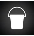 Icon of bucket vector image vector image