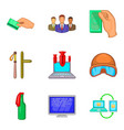 illegal act icons set cartoon style vector image vector image